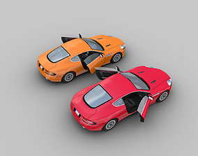 Aston Martin db9 Low-poly with interior 3D asset