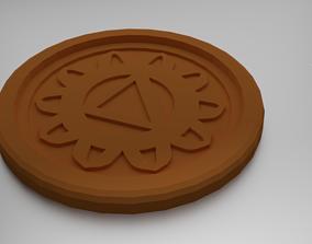 3D printable model Manipura Solar Plexus Chakra Coaster