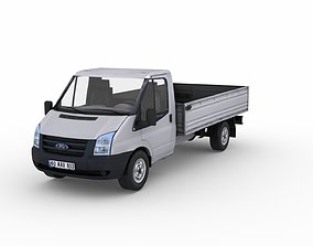 Low poly Ford Transit 350M pick-up 3D model