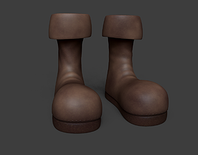 3D asset Leather Boots - Character Costume