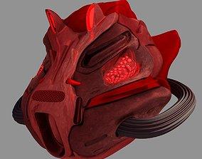 helmet Sci-Fi Helmet 3D model