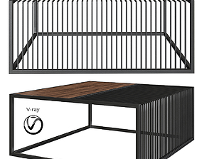 3D asset Grill Coffee Table by Zeren