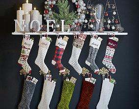 Christmas Stockings and Decor 3D socks