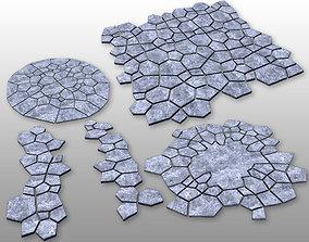 Stone ground tiles 3D