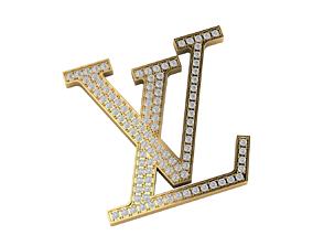 louis vuitton logo with diamond for pendant belt 3d print