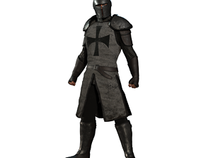 The Guardian Fantasy Armor Low-poly 3D model low-poly