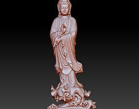Guanyin bodhisattva Kwan-yin sculpture for cnc or 3d