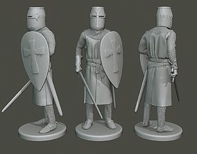 3D printable model Knight Templar Stand2 T1