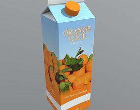 Orange Juice 3D asset