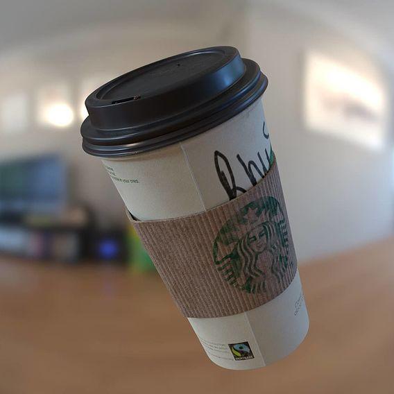 Starbucks Coffee Cup   3D Asset