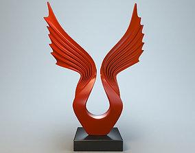 Sculpture Wings P 3D print model
