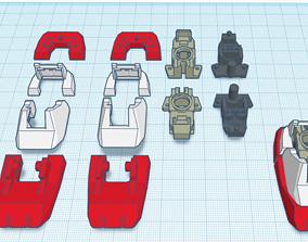 3D print model MG GUNDAM v1-5 Foot joint and Armor