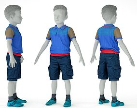 3D asset Kid Outfit 5