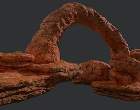 realtime Low poly modular canyon rocks environment assets