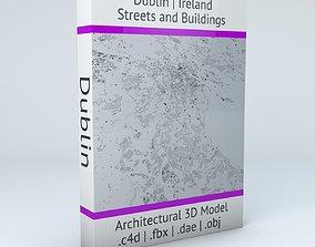 3D Dublin Streets and Buildings