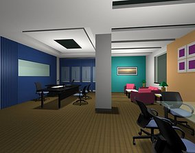 3D model Luxury architectural Hall Lobby entrance