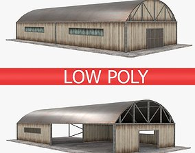 3D asset low-poly Warehouse pack - White