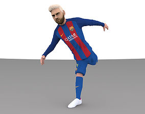 Lionel Messi full figurine textured 3D printable model