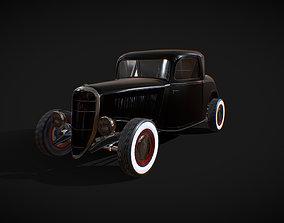 3D asset Antique Car Ford Hot Rod