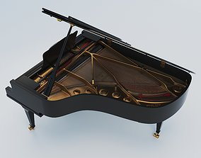 3D model classic Grand Piano