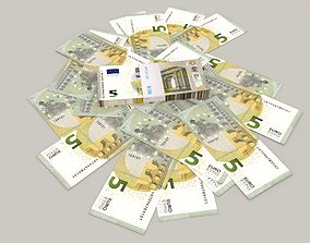 5 euro banknote packs 3D model