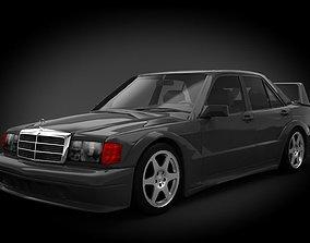 3D Mercedes Benz 190 Evolution II 1990 vehicle