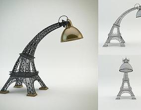 3D model Eiffel Tower lamp