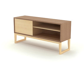 FREE Contemporary Wooden Sideboard 3D