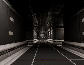 Sci-Fi Modular Corridor 3D model realtime