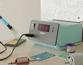 Soldering Station soldering 3D model
