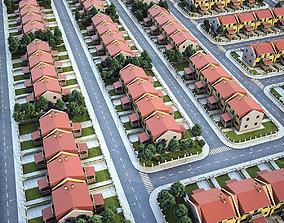 Neighborhood Houses 01 3D model