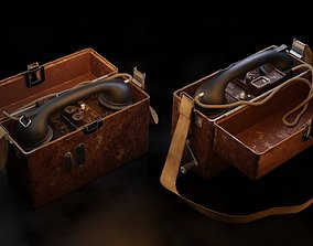 WW2 Military Telephone 3D asset