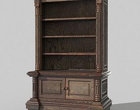 Antique bookcase 3D model