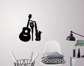 3D printable model Music instruments wall decoration