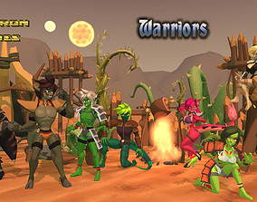 3D asset Acheron Warrior Outfits