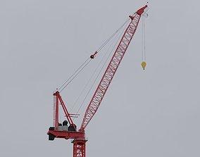 Luffing Jib Tower Crane 3D model