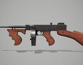 Thompson submachine gun 3D asset VR / AR ready PBR