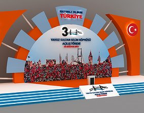 Inauguration Outdoor or Indoor Stage 105 3D model