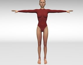 3D model rigged Girl gymnast