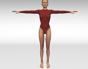 3D model rigged Girl gymnast