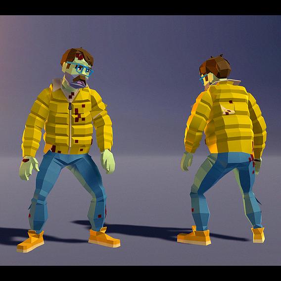Polygonal Zombie 07