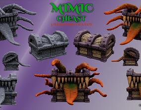 3D Printable Mimic chest monster