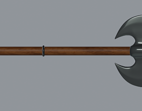 axe 3D model low-poly Battle Axe