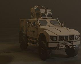 3D asset Military Vehicle Turret Oshkosh M-ATV MRAP