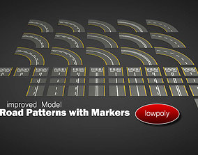 3D asset Road Patterns with Markers