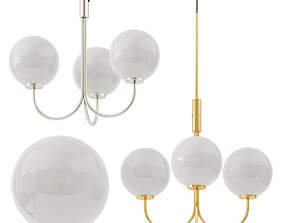 3D model Suspended chandelier Ballon Led