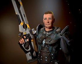 Ranger with plasma gun 3D model