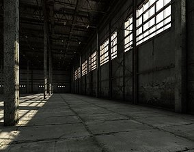 storage Old warehouse industrial interior 3D model