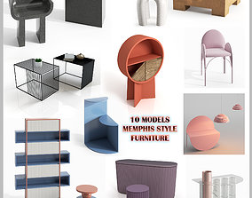 set 10 MODELS MEMPHIS STYLE FURNITURE