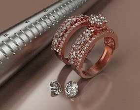 3D printable model diamondring